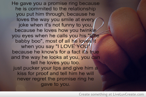 promise ring poems and quotes quotesgram