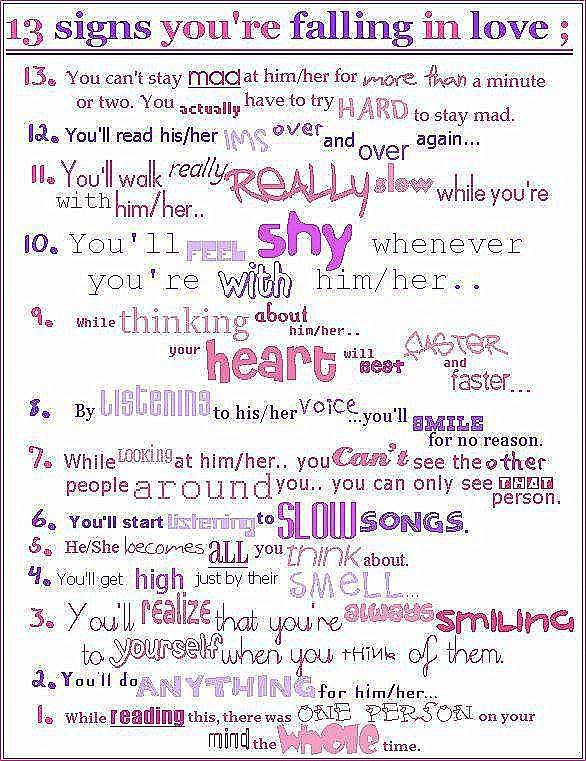 Signs You Are Falling In Love Quotes. QuotesGram