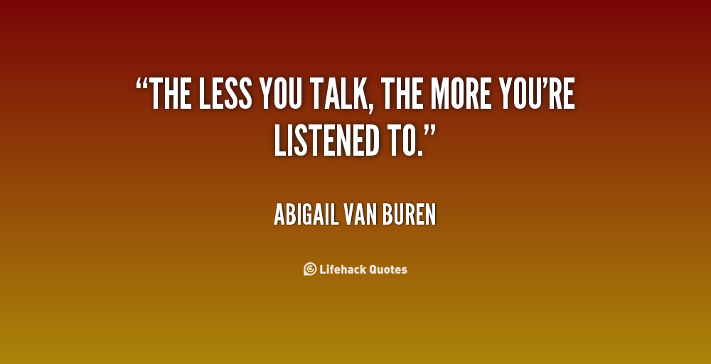 Quotes On Talking Less. QuotesGram