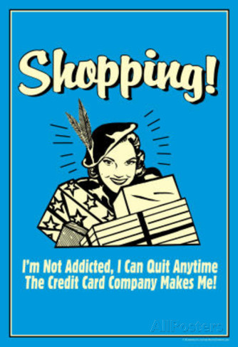 addicted to shopping Control of compulsive shopping, spending addiction, or shopaloholism a  classical addictive behavior.
