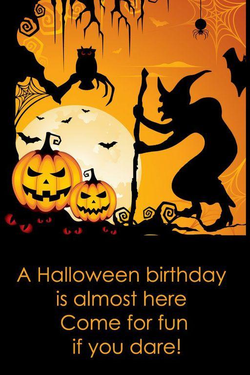 Halloween Birthday Sayings Quotes Quotesgram