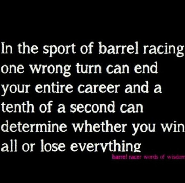 Barrel Racing Poems Or Quotes. QuotesGram