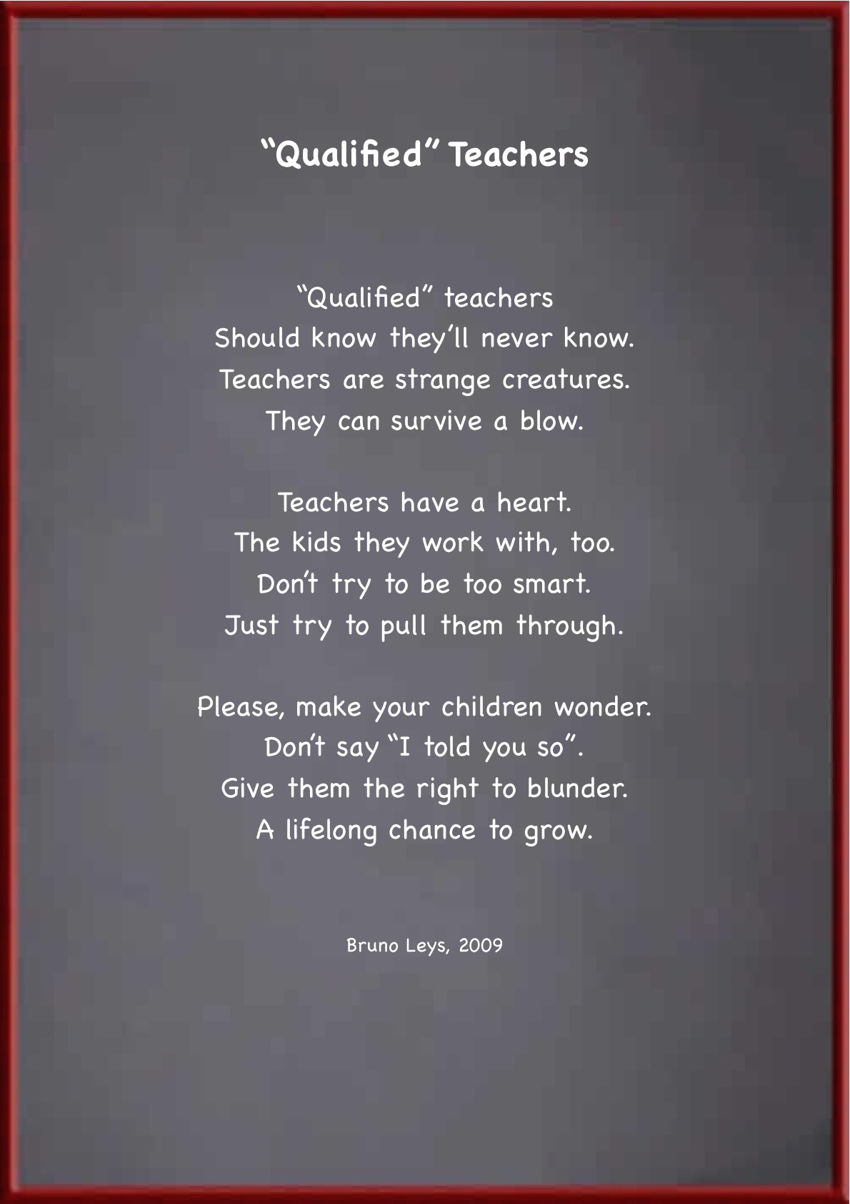 funny teacher appreciation poems | just b.CAUSE