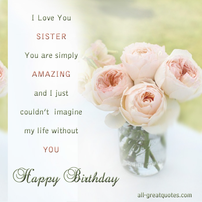 Happy Birthday Quotes For Deceased Sister Quotesgram