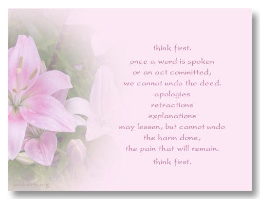 Think Before You Speak Quotes. QuotesGram