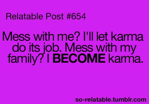 Funny Karma Quotes. QuotesGram