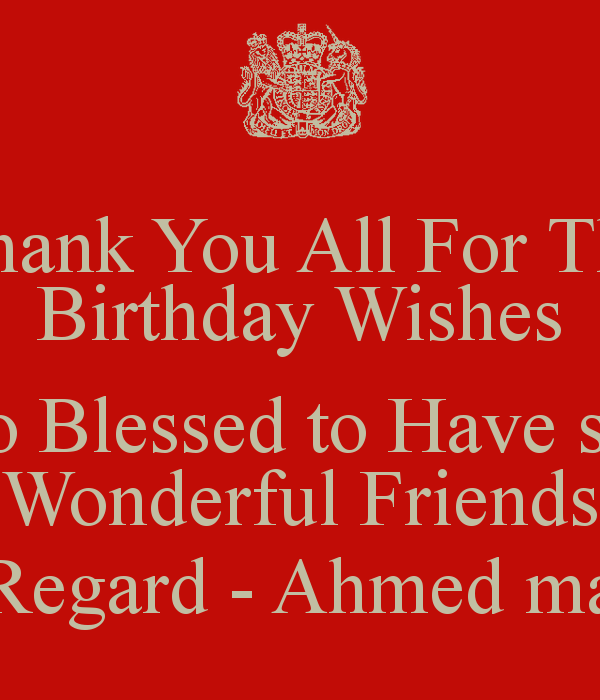 Thank You For Birthday Wishes Quotes. QuotesGram