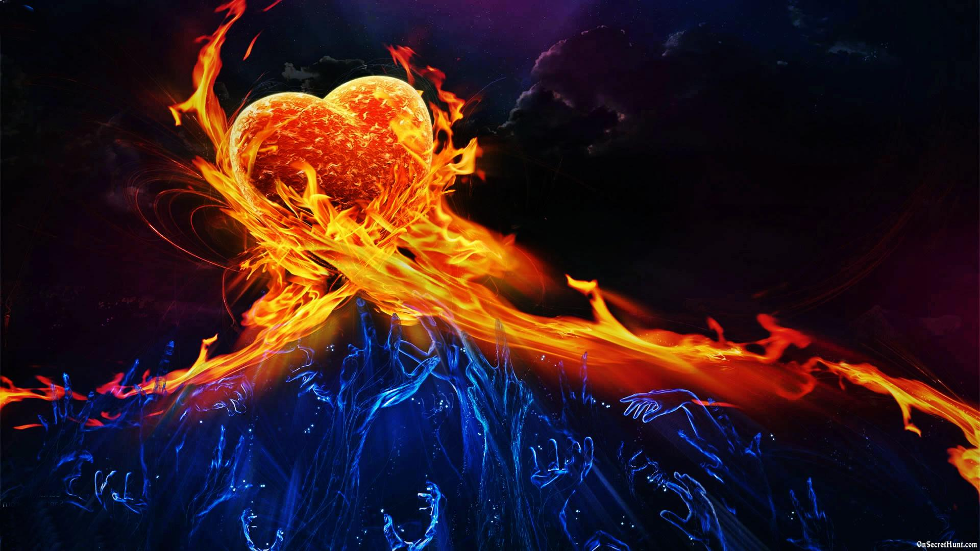 fire and ice heart - photo #10