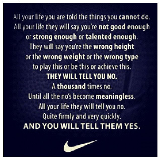 Inspirational Soccer Quotes And Sayings: Nike Soccer Quotes And Sayings. QuotesGram