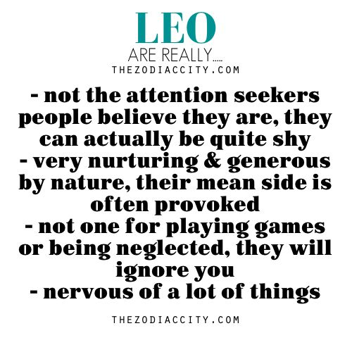 Leos zodiac about things Leo Facts: