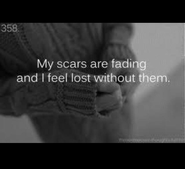 Sad Quotes About Depression: Quotes About Self Harm Scars. QuotesGram