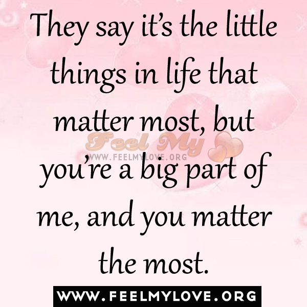 The Little Things Matter Most In Life: The Little Things In Life Quotes. QuotesGram
