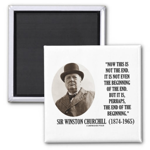 Winston Churchill Quotes Beginning Of The End: Winston Churchill Quotes Fanatic. QuotesGram