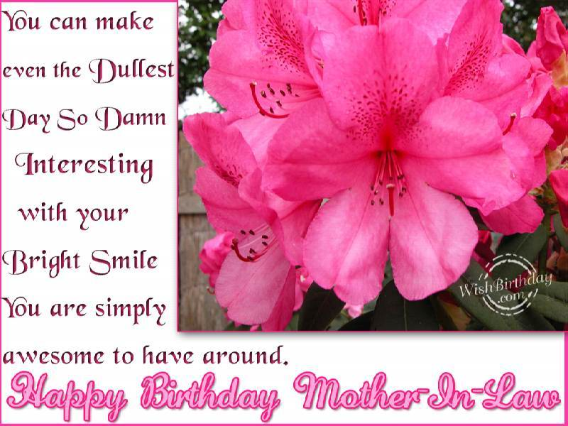 Best Mother In Law Birthday Quotes: Happy Birthday Mother In Law Quotes. QuotesGram