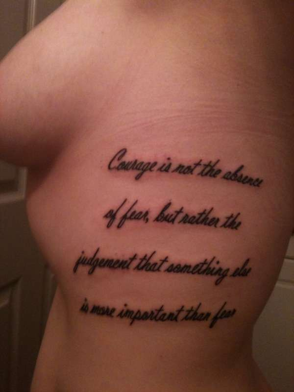 Tattoo quotes about courage quotesgram - Tatouage force et courage ...