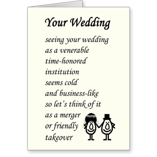 Nice Quotes For Wedding Cards: Funny Wedding Quotes And Poems. QuotesGram