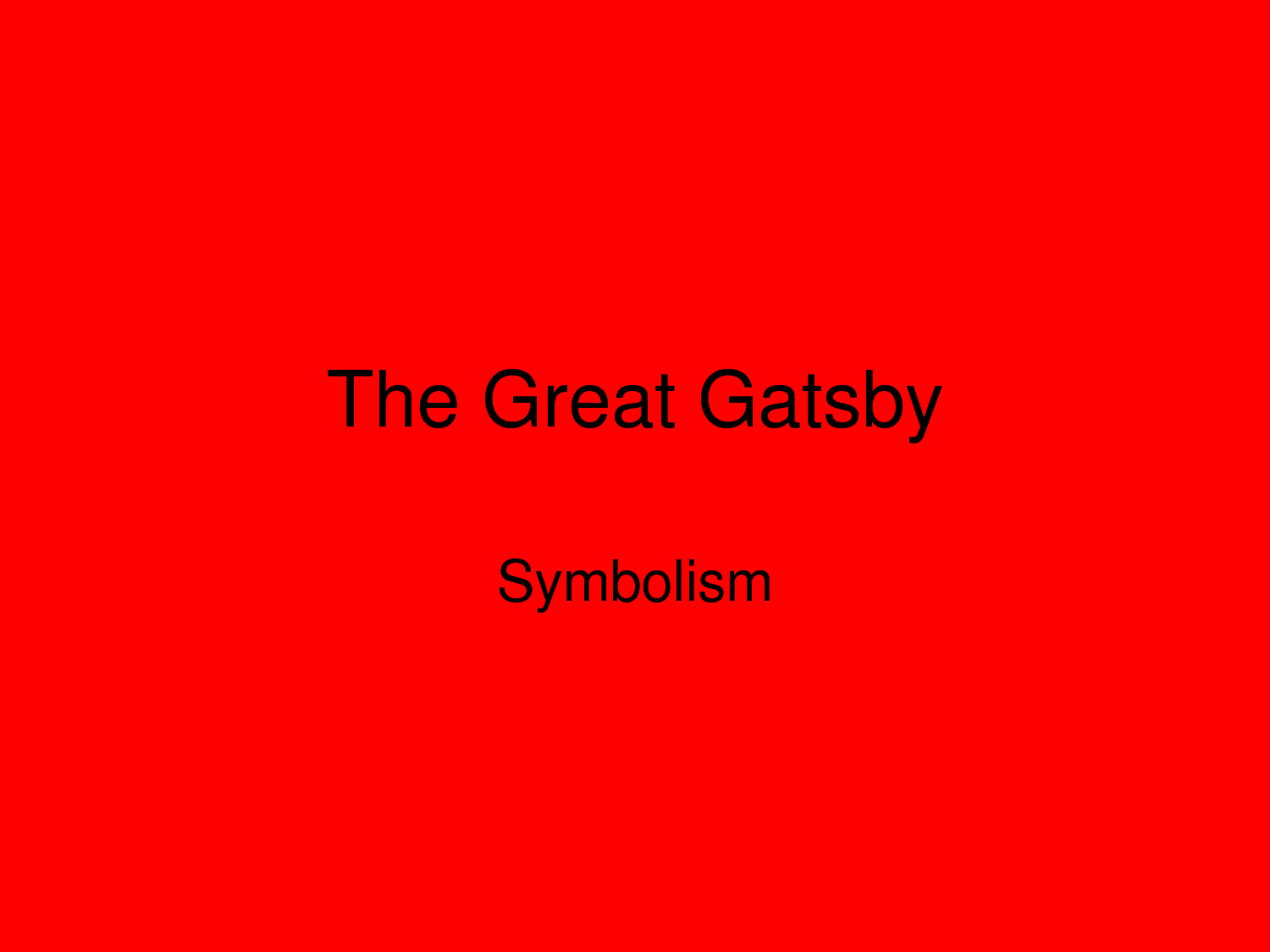the great gatsby materialism