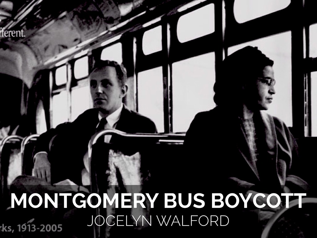 Montgomery bus boycott photo essay