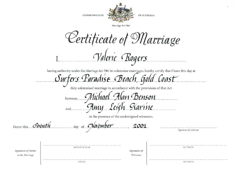 Doc600826 Sample Marriage Certificate Sample Marriage – Wedding Certificate Template