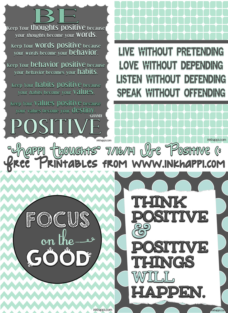 Quotes Positive Thinking Printable. QuotesGram