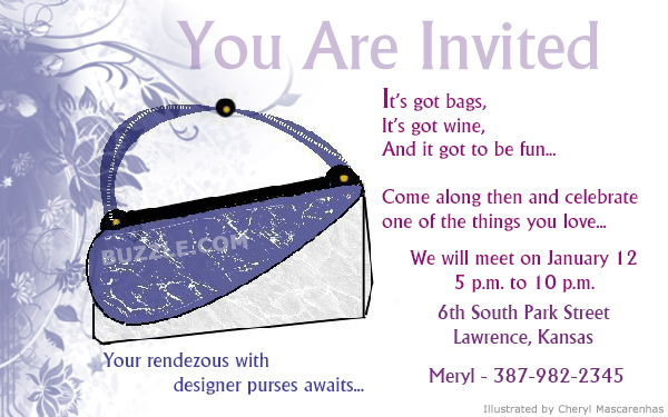 Fare Well Party Invitation Quotes QuotesGram – Handbag Party Invitations