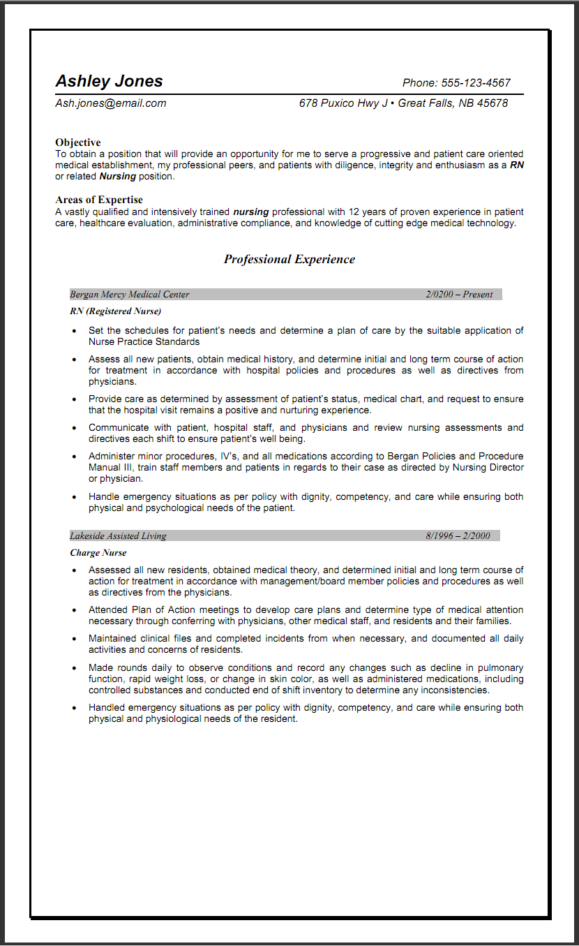 Resume help objectives