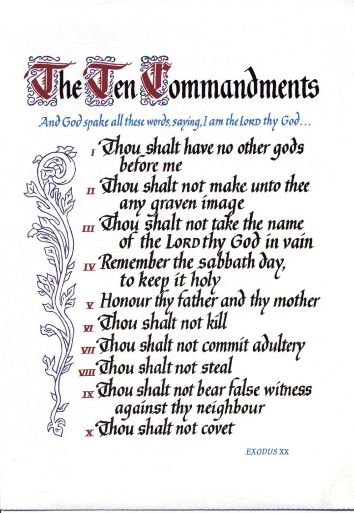 It is an image of Gutsy The Ten Commandments Printable