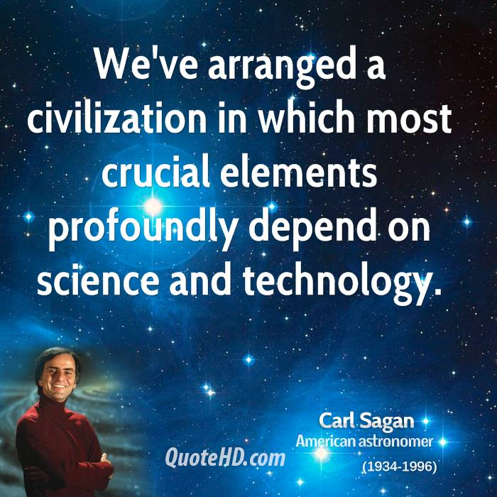 Quotes On Technology: Carl Sagan Science Technology Quotes. QuotesGram