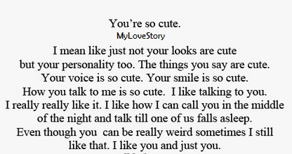Things what girlfriend your cute say to to Sweet words