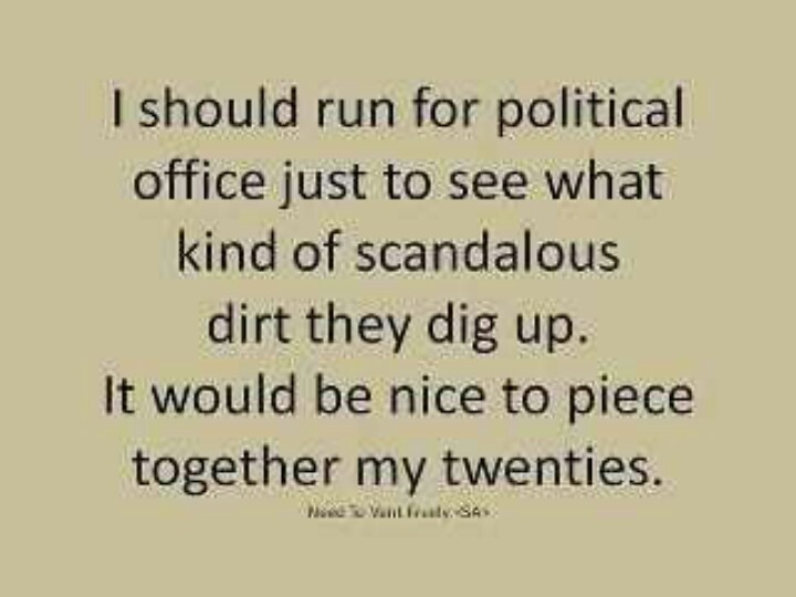 Short funny political quotes phrase