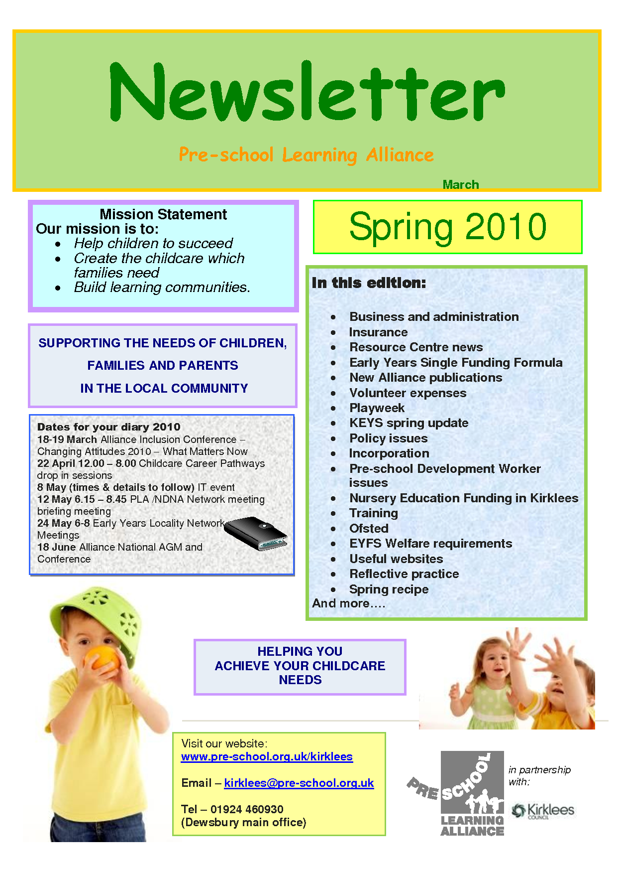 Preschool newsletter quotes quotesgram for Spring newsletter template