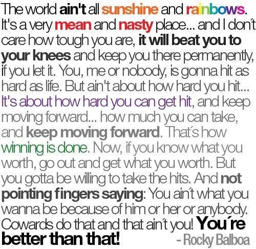 Rocky Balboa Life Is Hard Quote: Rocky Balboa Quotes. QuotesGram