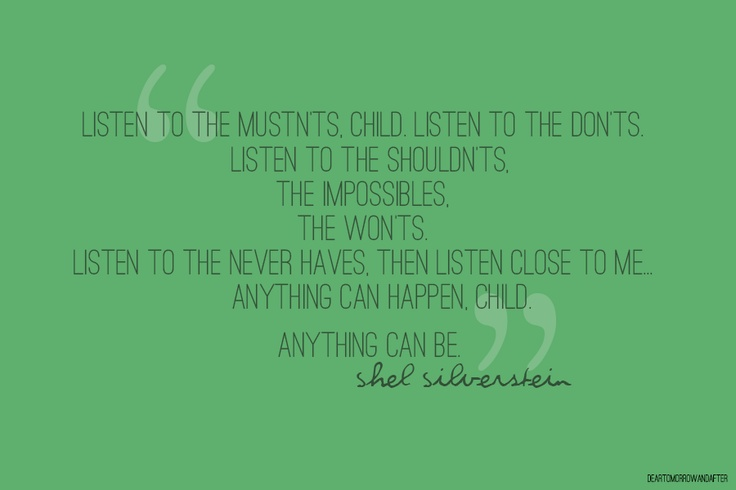 Motivational Quotes From Shel Silverstein: Shel Silverstein Quotes About Life. QuotesGram