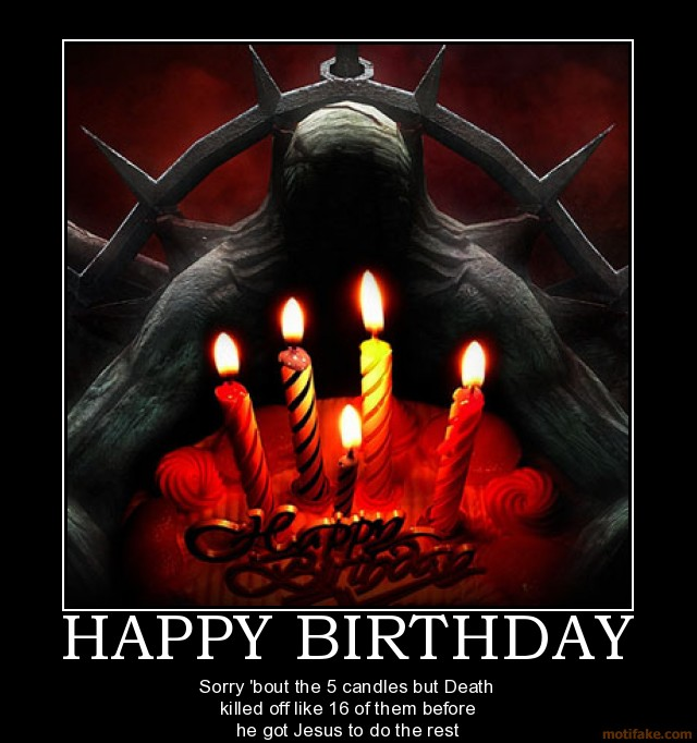 Страшные картинки с днем рождения