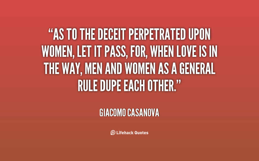 lies and deception in a relationship