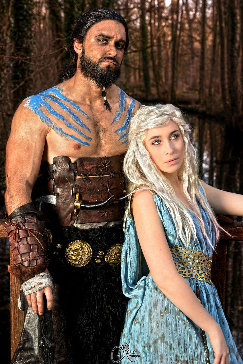 21+ Khaleesi And Khal Drogo Costumes PNG
