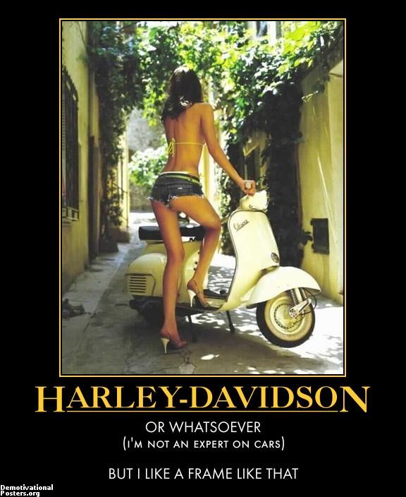 Porn Girl Harley Davidson Advertisement