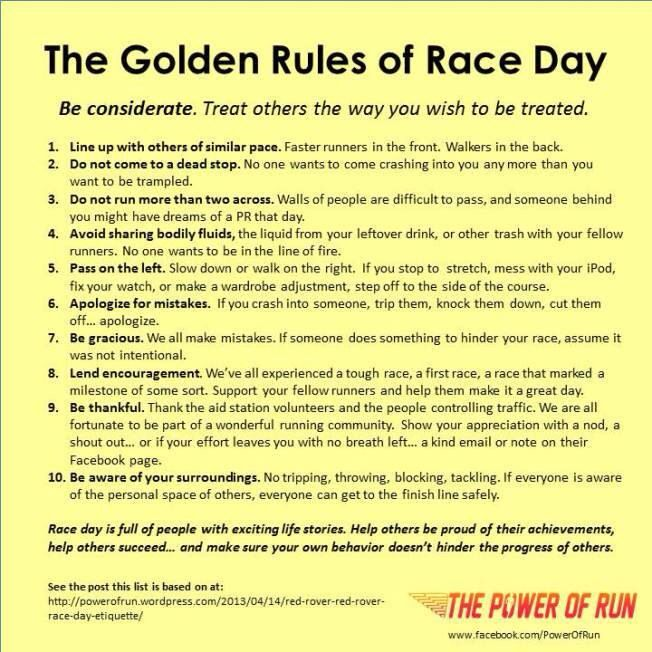 an advice on preparing yourself for a race Pace yourself most racers give their best effort in the first mile leaving two more to go aim to negative split your effort on race day—that simply means finishing the second half of the race faster than you ran the first half.