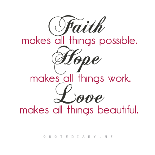 Hope And Faith Quotes: Bible Quotes On Faith Hope And Love. QuotesGram