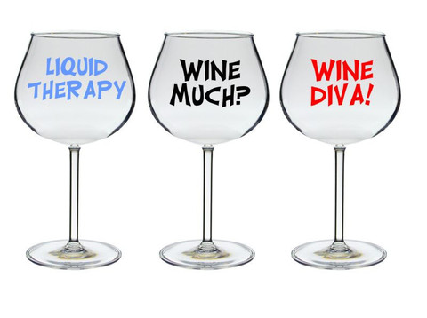 Funny Large Wine Glass
