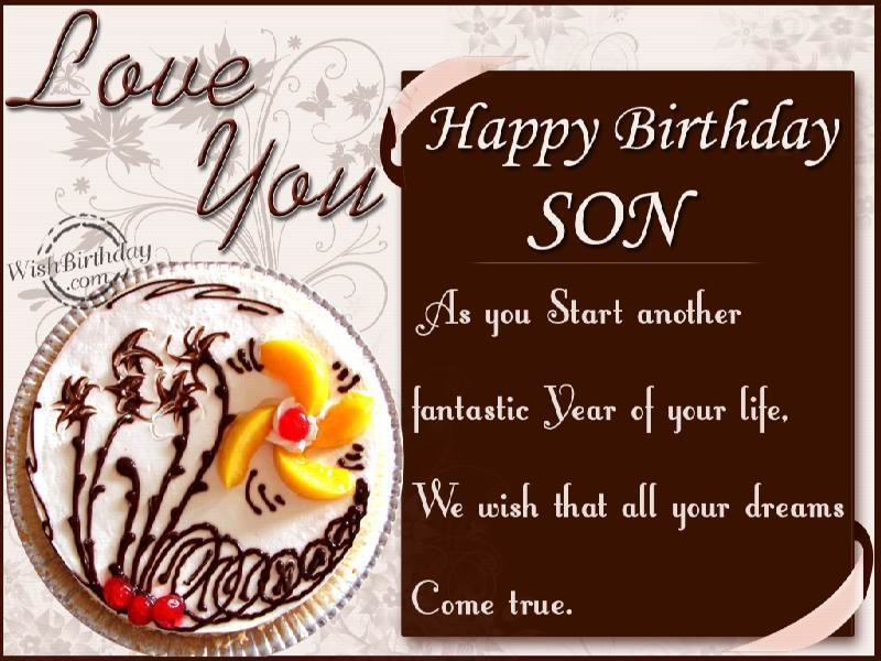 Peachy Son Birthday Wishes Quotes Quotesgram Funny Birthday Cards Online Inifodamsfinfo