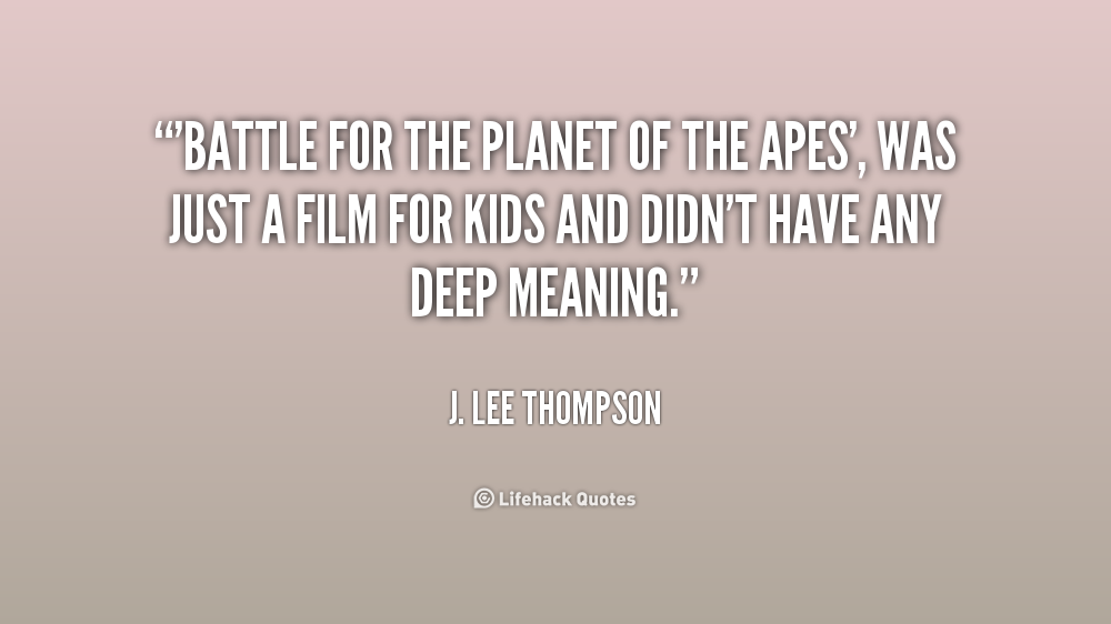 Planet Of The Apes Quotes. QuotesGram