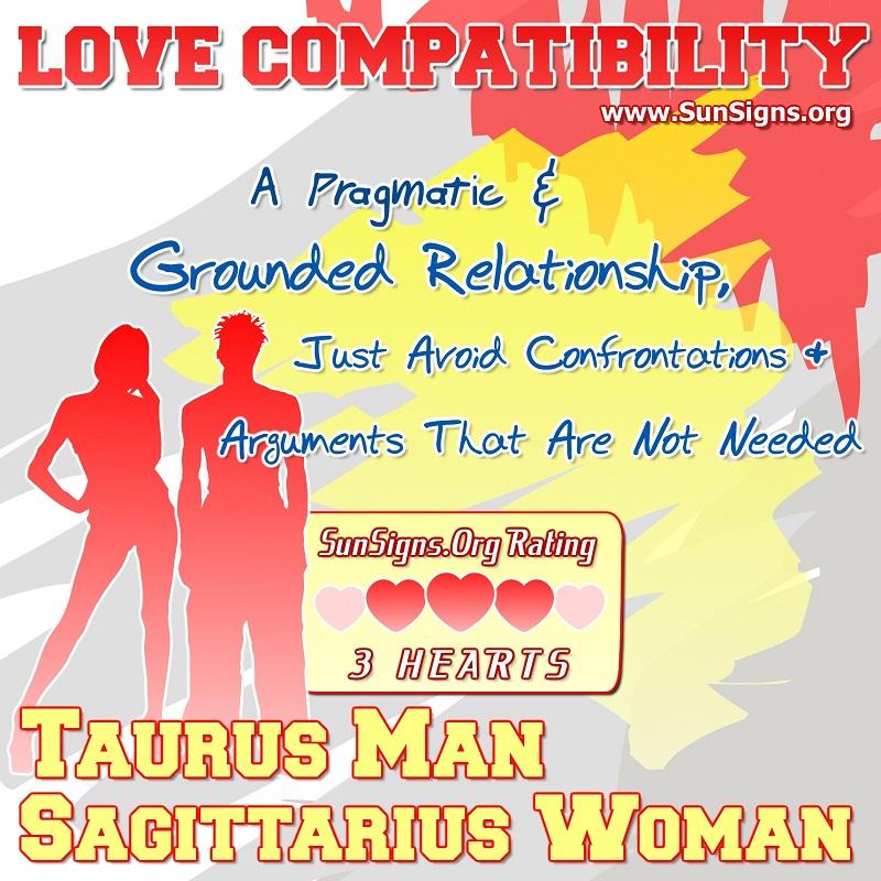 taurus woman dating a sagittarius man Taurus and sagittarius taurus and capricorn can it work between taurus woman and gemini man when taurus woman and gemini man start dating for the long term.