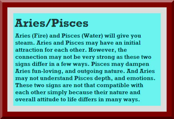pisces woman and aries relationship