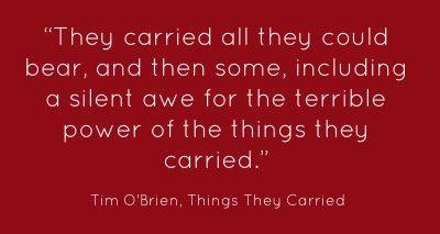 The Things They Carried by Tim OBrien. Material and Emotional Burdens - Essay Example