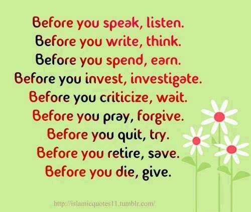 Quotes On Thinking Before You Speak: Before You Speak Quotes. QuotesGram
