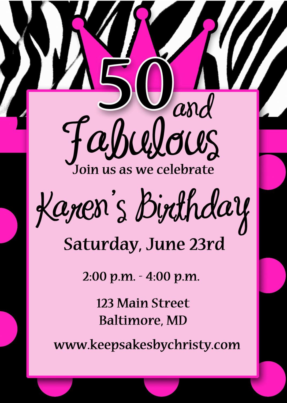 birthday invitation write up