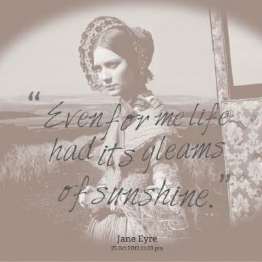 jane eyre and modern life Set in modern times, her jane, jane re, is a half-korean, half-american girl  raised in a korean community in queens, new york jane re's life.