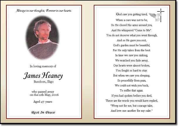 Memorial Card Quotes For Funerals. QuotesGram