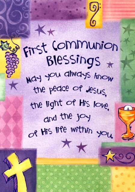 First Communion Quotes For Cards Quotesgram